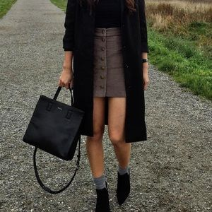 Wilfred free perfect fall button down ribbed skirt